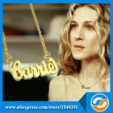 Carrie Bradshaw Name Necklace Carrie Necklace The Necklace