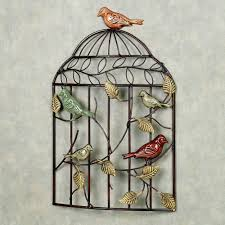 bird sanctuary cage metal wall art