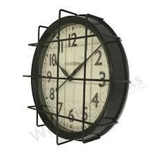 Silent Wall Clock Black Metal Hometime Silent Wall Clock Metal Grill Front