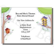 personalised change of address moving house cards tree houses