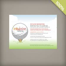 plantable personalized corporate golf invitation plantable