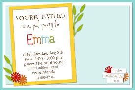 kids birthday party invitation sample choice image invitation