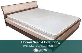do you need a box spring with a memory foam mattress