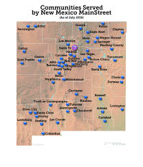 State Map Of New Mexico by New Mexico Mainstreet Program