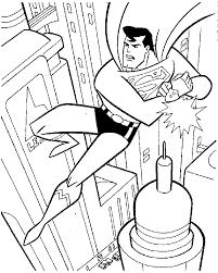 superman clipart coloring book pencil color superman