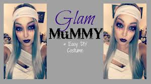 glam mummy halloween makeup u0026 easy diy costume youtube