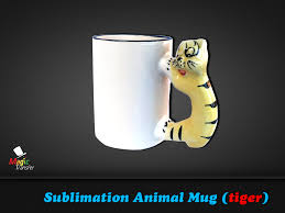 11oz sublimation animal mug tiger magic transfer