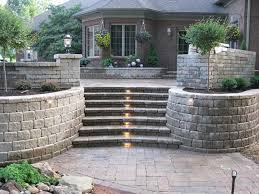 nice lights landscaping blocks ideas for retaining walls with