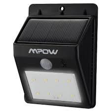 wireless sensor lights outdoor mpow solar powerd wireless security motion sensor light outdoor wall