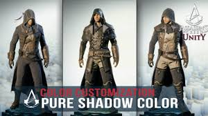 assassin u0027s creed unity pure shadow color customization