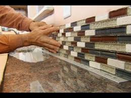kitchen tile backsplash installation stunning how to install glass tile sheets backsplash