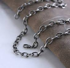 large link necklace images Mens large link cable chain necklace mens sterling silver etsy jpg