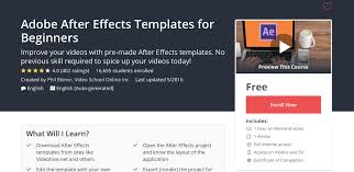 adobe after effects templates for beginners udemy course review