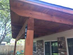 cedar patio cover complete t u0026m contracting
