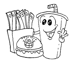 Food Coloring Pages For Kids Coloringstar Food Color Pages