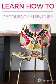 Upholstery Fabric For Armchairs How To Decoupage Furniture For An Upholstered Look Designer Trapped