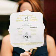 Hand Fan Wedding Programs 17 Imaginative Wedding Program Ideas Crazyforus