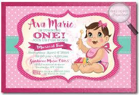 musical baby first birthday invitations di 250 harrison