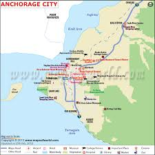 alaska major cities map anchorage map map of anchorage alaska