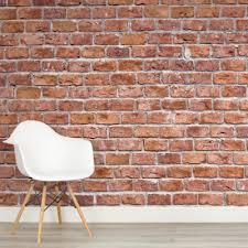 Pink Brick Wall Pink Brick Wall Mural Murals Wallpaper