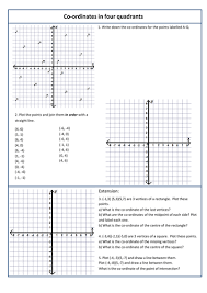 coordinates in all 4 quadrants by monkeyfig teaching resources tes