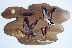 wall wood of flying ducks cabin decorations