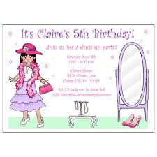 dress up birthday party invitations for girls u2013 mandys moon