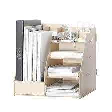 File Desk Organizer Wooden Multi Use Desk Organizer Office Sundries Storage Box