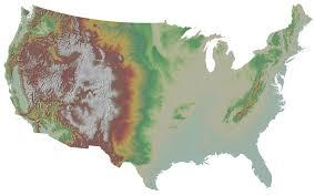 United States Elevation Map by Isu Geosciences Maps