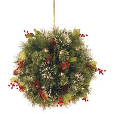 national tree company 16 in wintry pine kissing ball with battery
