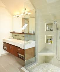 Contemporary Bathroom Storage Cabinets Stunning Walk In Shower Using Glass Door For Contemporary Bathroom