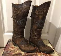 cowboy boots uk leather gringo studded embroidered 100 genuine brown leather cowboy