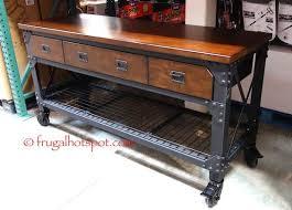 Costco Computer Desk Whalen Industrial Metal U0026 Wood Workbench Costco Frugalhotspot
