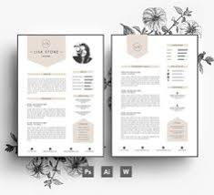 elegant resume template word psd internet fun pinterest