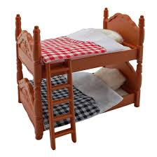plastic bunk bed quilt for sylvanian families furryville calico