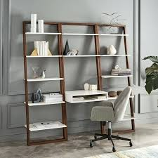 Leaning Bookshelf With Desk Bookcase Leaning Desk And Bookshelves Leaning Wall Desk And