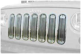 Rugged Ridge Billet Grille Inserts In Black Buy Rugged Ridge 11401 20 Billet Grille Insert Polished Aluminum