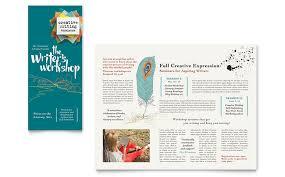 writer u0027s workshop brochure template word u0026 publisher