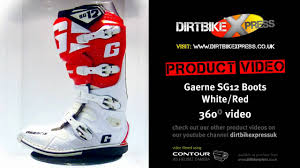 red dirt bike boots gaerne sg12 white red boots youtube