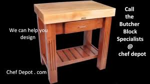 Kitchen Work Table by Kitchen Work Table Butcher Block Youtube