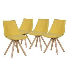 chaises jaunes fjord lot de 4 chaises jaunes achat vente chaise jaune