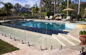 Glass Patio Fencing 10 Glass Pool Fence Ideas For Backyard Design Aquaview Glass