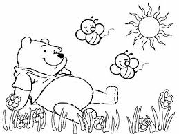 winnie pooh sitting garden colouring colouring tube