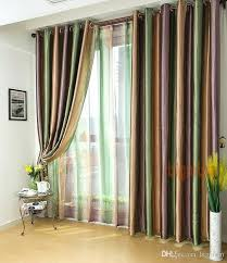 Green Striped Curtains Green And White Curtains Teawing Co