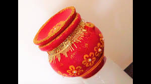 pot decoration diwali special how to decorate karva at home