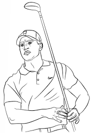 Tiger Woods Coloring Page Free Printable Coloring Pages Jackie Robinson Coloring Page