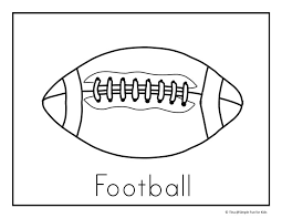 football coloring pages simple fun kids