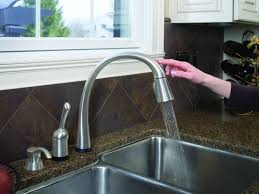 delta kate kitchen faucet bathroom modern delta touch faucet for your kitchen and bathroom