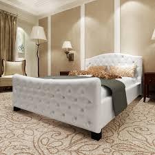 Schlafzimmer Betten G Stig Luxus Kunstlederbett Bett 140 Cm Weiß Matratze Lattenrost