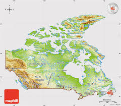 canada maps physical map of canada cropped outside